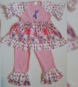 NEW Girls boutique Easter outfit pink Size 2T to 7